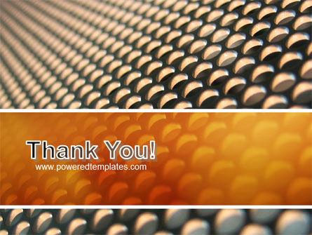 Gray- Orange Grid PowerPoint Template Slide 20