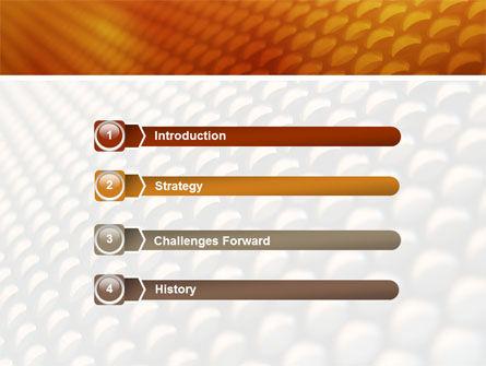 Gray- Orange Grid PowerPoint Template Slide 3