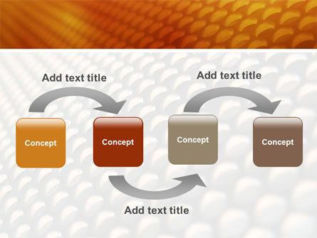 Gray- Orange Grid PowerPoint Template Slide 4