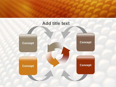Gray- Orange Grid PowerPoint Template Slide 6