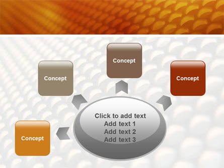 Gray- Orange Grid PowerPoint Template Slide 7