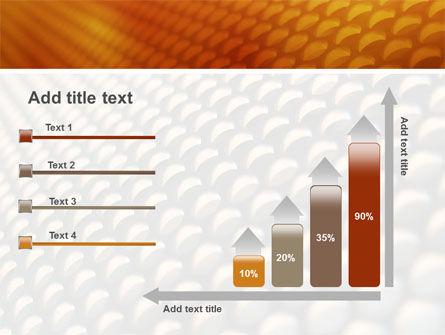 Gray- Orange Grid PowerPoint Template Slide 8