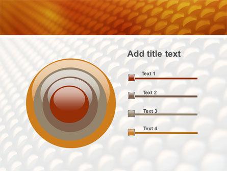 Gray- Orange Grid PowerPoint Template Slide 9