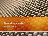 Abstract/Textures: Gray- Orange Grid PowerPoint Template #02723