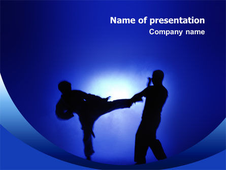 Sports: Martial Art PowerPoint Template #02724