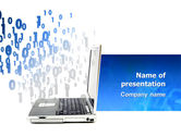 Technology and Science: Digits From Laptop PowerPoint Template #02725
