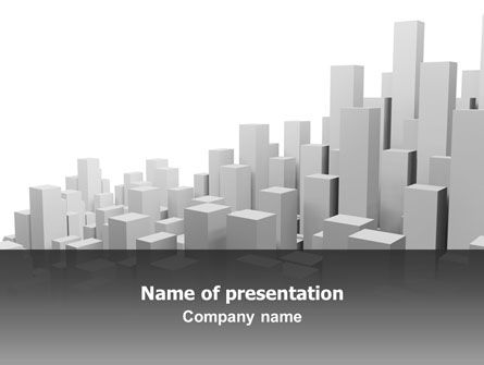 Megalopolis PowerPoint Template, 02726, 3D — PoweredTemplate.com