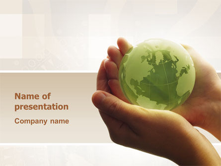 Global: World in Hands PowerPoint Template #02727
