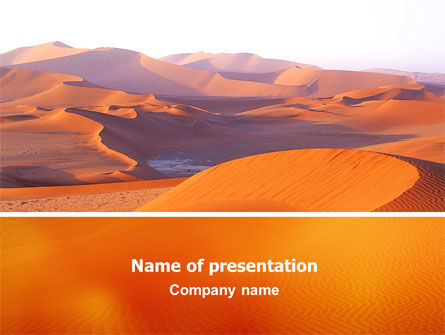 Red Desert PowerPoint Template