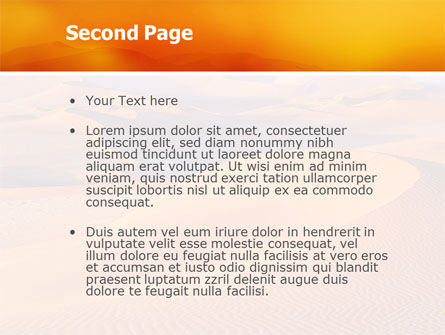 Red Desert PowerPoint Template Slide 2