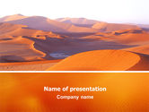 Nature & Environment: Red Desert PowerPoint Template #02728