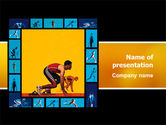 Sports: Athletics PowerPoint Template #02729