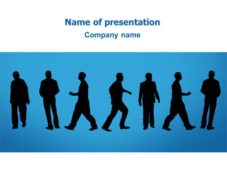 Business: Plantilla de PowerPoint - movimiento de personas #02732