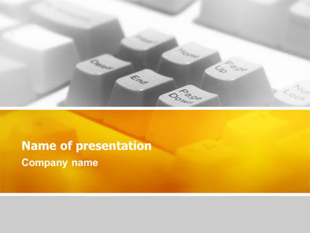 Technology and Science: Gray Keyboard PowerPoint Template #02733