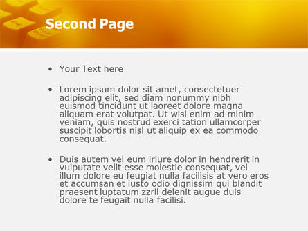 Gray Keyboard PowerPoint Template, Slide 2, 02733, Technology and Science — PoweredTemplate.com