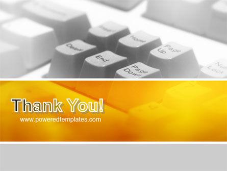 Gray Keyboard PowerPoint Template Slide 20