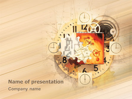 Abstract/Textures: Clockwork PowerPoint Template #02734