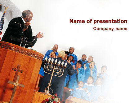 Religious/Spiritual: Choir PowerPoint Template #02738