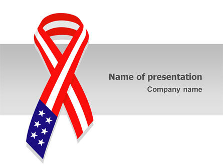 Holiday/Special Occasion: Patriot Ribbon PowerPoint Template #02739