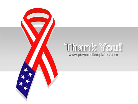 Patriot Ribbon PowerPoint Template Slide 20