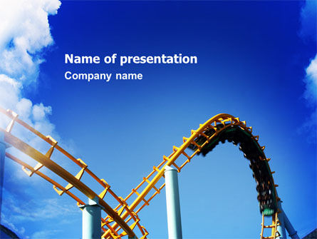 Art & Entertainment: Roller Coaster PowerPoint Template #02740