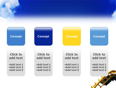 Roller Coaster PowerPoint Template Slide 5