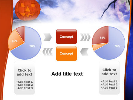 Jack-o-lantern In The Scary Night PowerPoint Template Slide 11