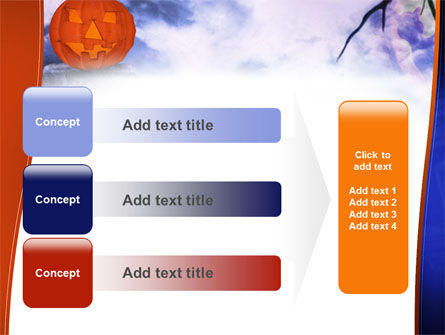 Jack-o-lantern In The Scary Night PowerPoint Template Slide 12