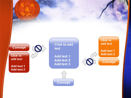 Jack-o-lantern In The Scary Night PowerPoint Template Slide 13