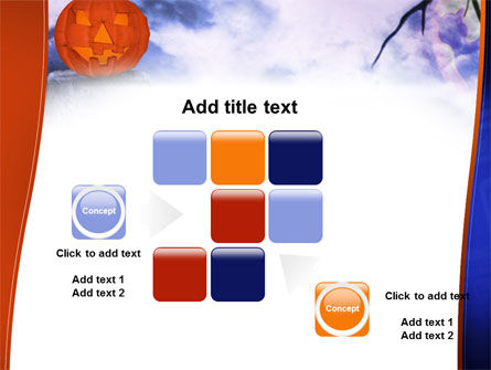 Jack-o-lantern In The Scary Night PowerPoint Template Slide 16