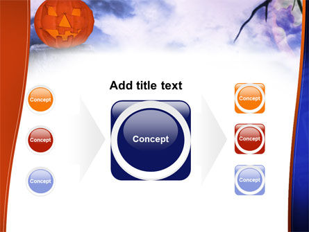 Jack-o-lantern In The Scary Night PowerPoint Template Slide 17