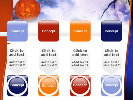 Jack-o-lantern In The Scary Night PowerPoint Template Slide 18