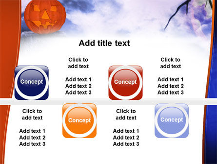 Jack-o-lantern In The Scary Night PowerPoint Template Slide 19