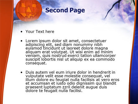 Jack-o-lantern In The Scary Night PowerPoint Template, Slide 2, 02741, Holiday/Special Occasion — PoweredTemplate.com
