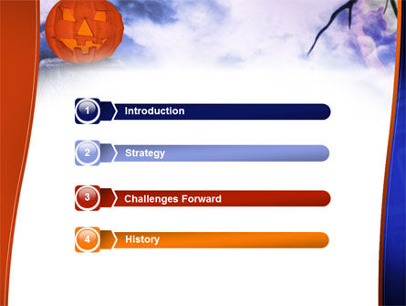 Jack-o-lantern In The Scary Night PowerPoint Template, Slide 3, 02741, Holiday/Special Occasion — PoweredTemplate.com