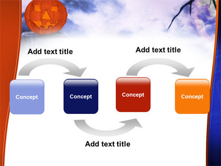 Jack-o-lantern In The Scary Night PowerPoint Template, Slide 4, 02741, Holiday/Special Occasion — PoweredTemplate.com