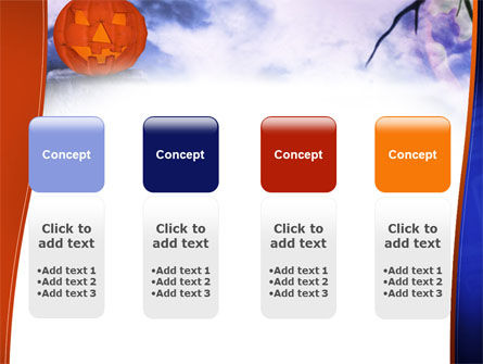 Jack-o-lantern In The Scary Night PowerPoint Template Slide 5