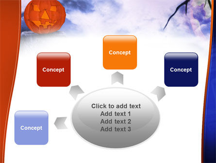 Jack-o-lantern In The Scary Night PowerPoint Template Slide 7