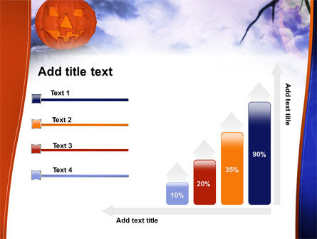 Jack-o-lantern In The Scary Night PowerPoint Template Slide 8