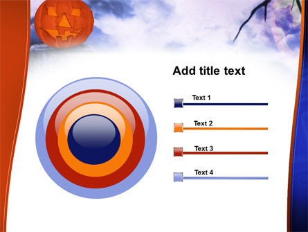 Jack-o-lantern In The Scary Night PowerPoint Template Slide 9