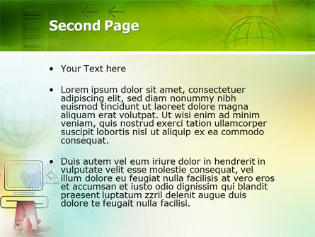 Online Payment PowerPoint Template, Slide 2, 02742, Technology and Science — PoweredTemplate.com