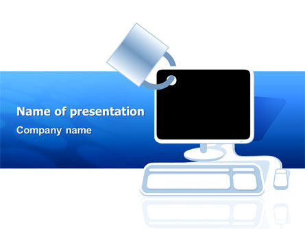 Computer Shield Software PowerPoint Template