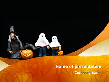 Trick or Treat PowerPoint Template, 02746, Holiday/Special Occasion — PoweredTemplate.com