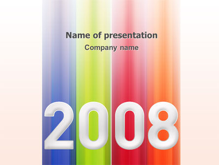 NYr 2008 in color  PowerPoint Template