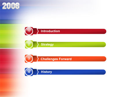 NYr 2008 in color  PowerPoint Template Slide 3