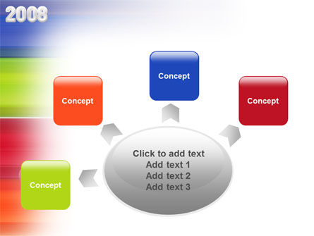 NYr 2008 in color  PowerPoint Template Slide 7