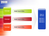 NYr 2008 in color PowerPoint Template#12