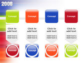 NYr 2008 in color PowerPoint Template#18