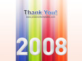NYr 2008 in color PowerPoint Template#20