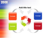 NYr 2008 in color PowerPoint Template#6